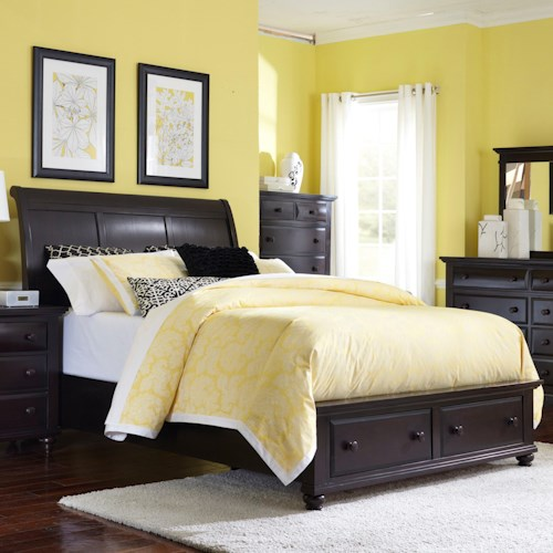 Broyhill Furniture Farnsworth King Sleigh Bed with Storage