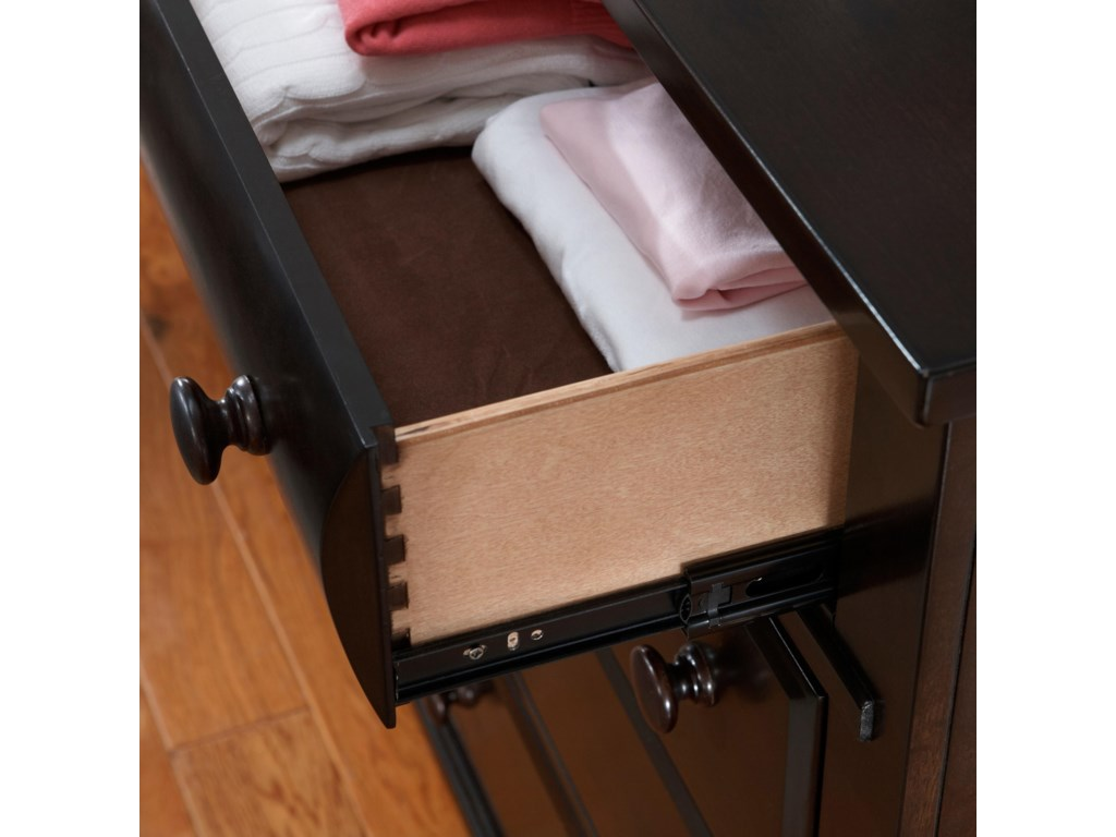 Drawer Shown with Extension Metal Glide Sides