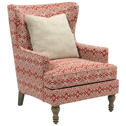Broyhill Furniture Fiona Transitional Upholstered Wing Back Chair