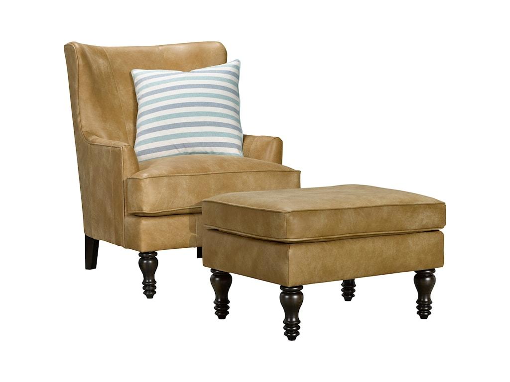 Broyhill Furniture FionaTransitional Chair & Ottoman Set