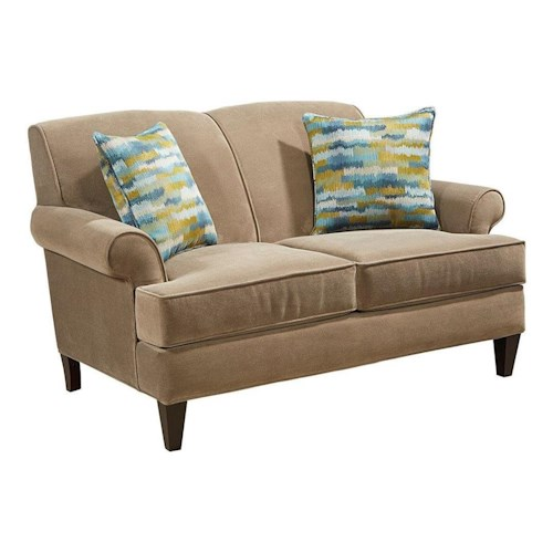 Broyhill Furniture Flint Transitional Loveseat with Rolled Arms