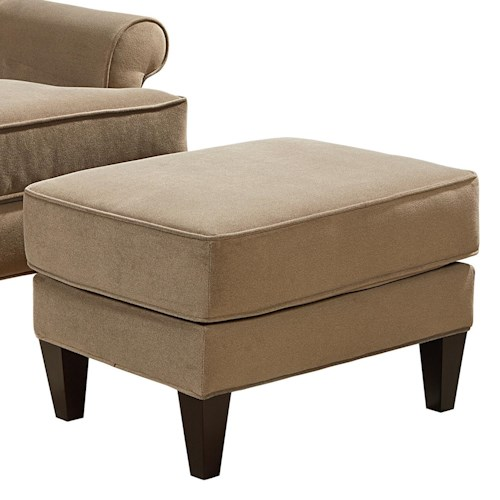 Broyhill Furniture Flint Transitional Ottoman with Tapered Legs