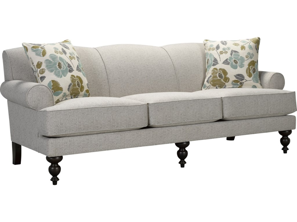Broyhill Furniture Frankie Sofa with Turned Front Legs   Conlin\'s ...