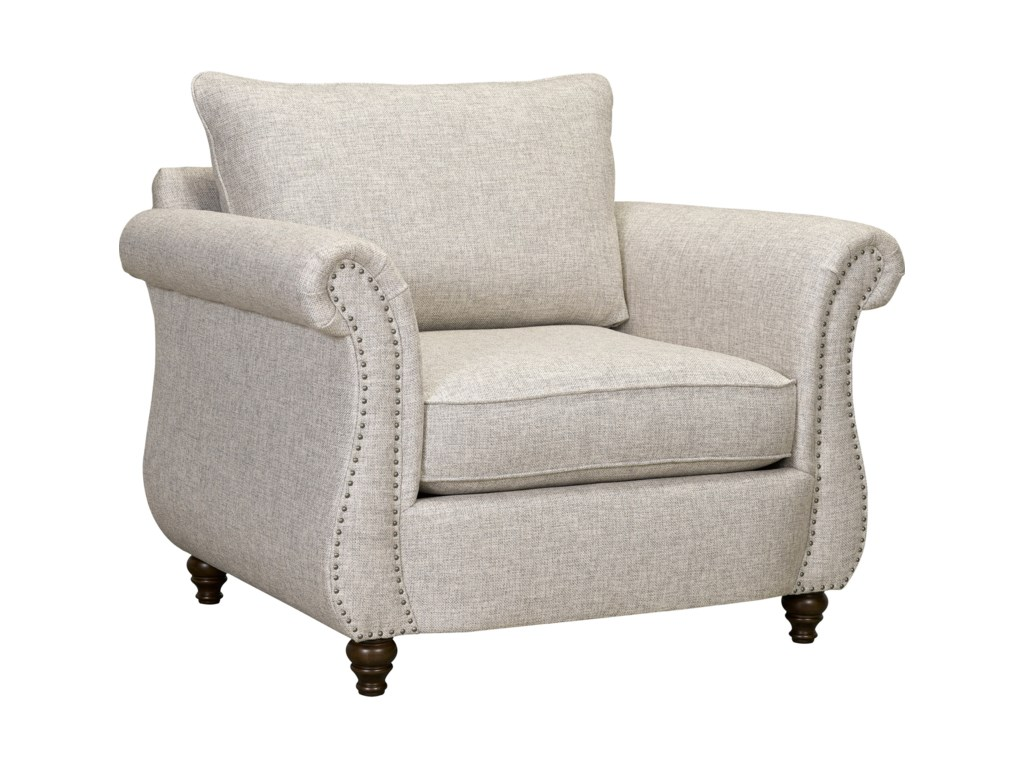 Broyhill Furniture HattieChair and 1/2 and Ottoman