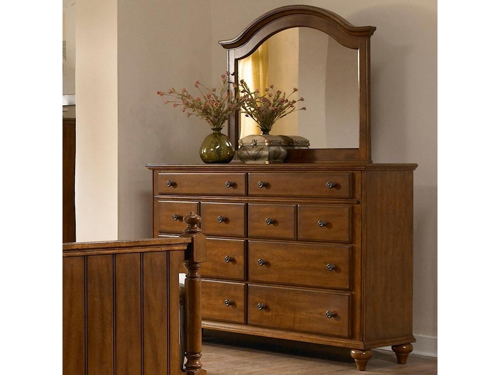 Mirror Shown with Dresser