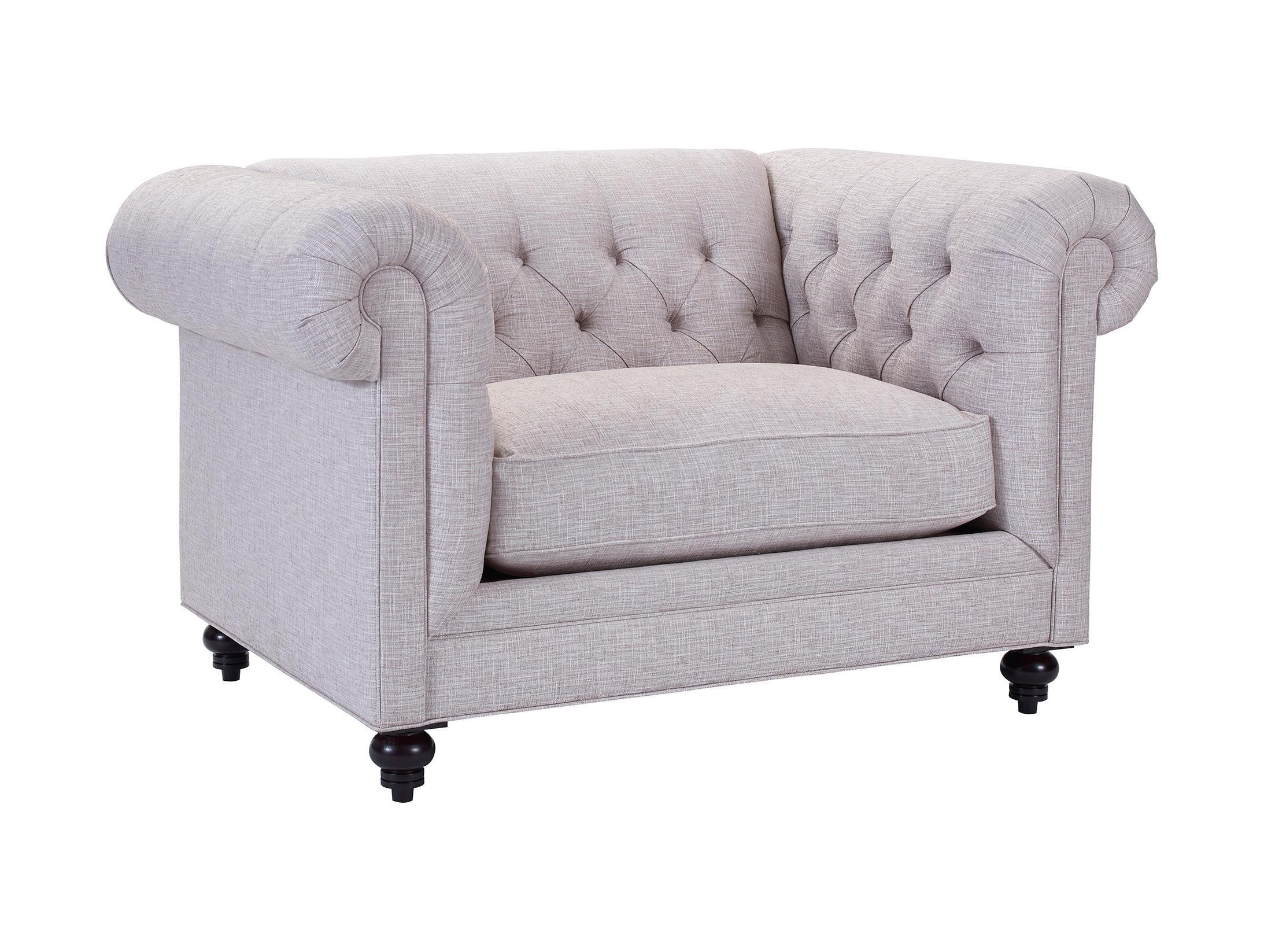 Broyhill Furniture Heath Traditional Chesterfield Chair U0026 1/2