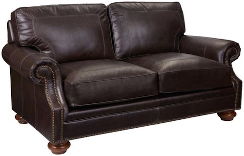 Broyhill Furniture Heuer Traditional Loveseat with Nailhead Trim