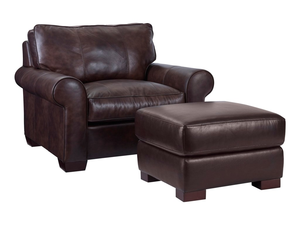 Broyhill Furniture IsadoreChair & 1/2 and Ottoman