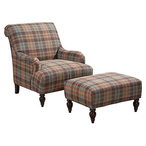 Broyhill Furniture Isla Chair and Ottoman Set