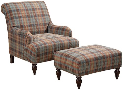Broyhill Furniture Isla Chair and Ottoman Set