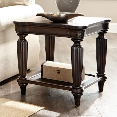 Broyhill Furniture Jessa Square End Table with One Shelf