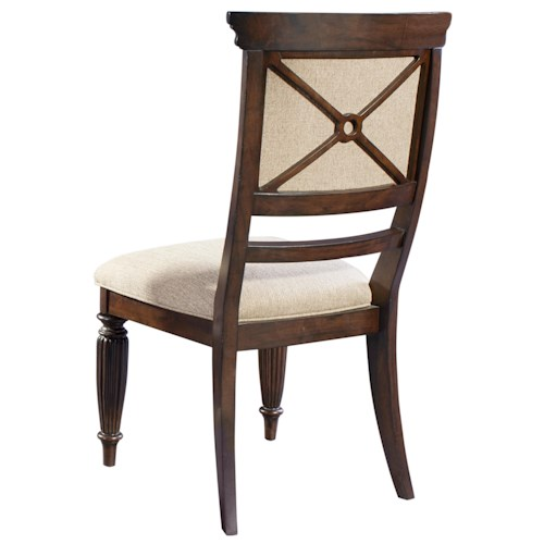 Broyhill Furniture Jessa Upholstered Seat and Back Side Chair with Turned Legs
