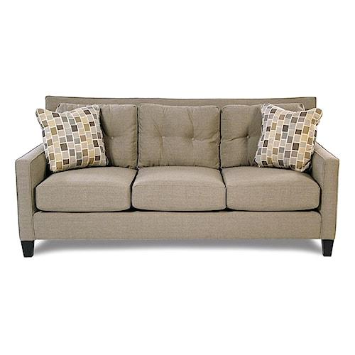 Broyhill Furniture Stonehill Contemporary Tufted Back Sofa w/ Sunbrella Fabric