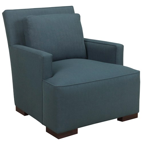 Broyhill Furniture Stonehill Contemporary Chair with Track Arms and Loose Pillow Back