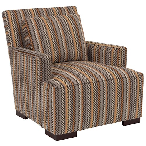 Broyhill Furniture Josie Contemporary Chair with Track Arms and Loose Pillow Back