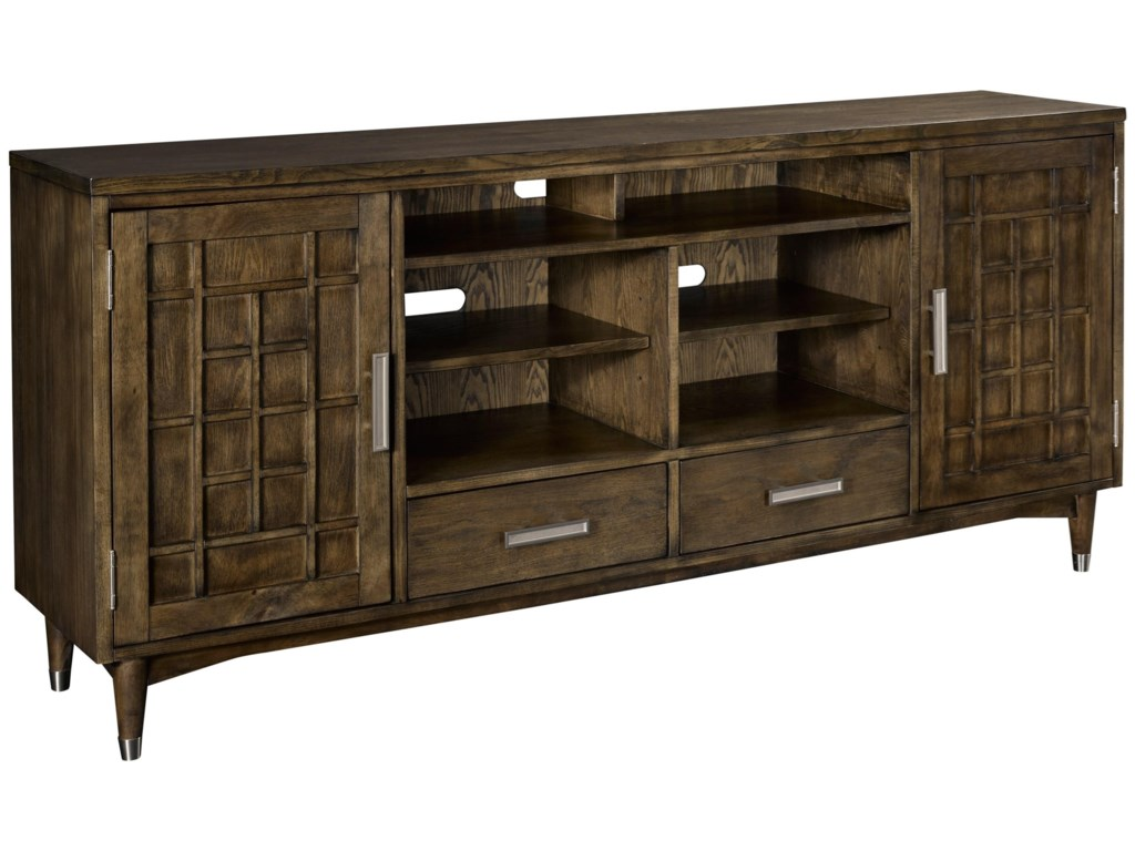 Keeley 75 Entertainment Console With Geometric Designs By Broyhill Furniture