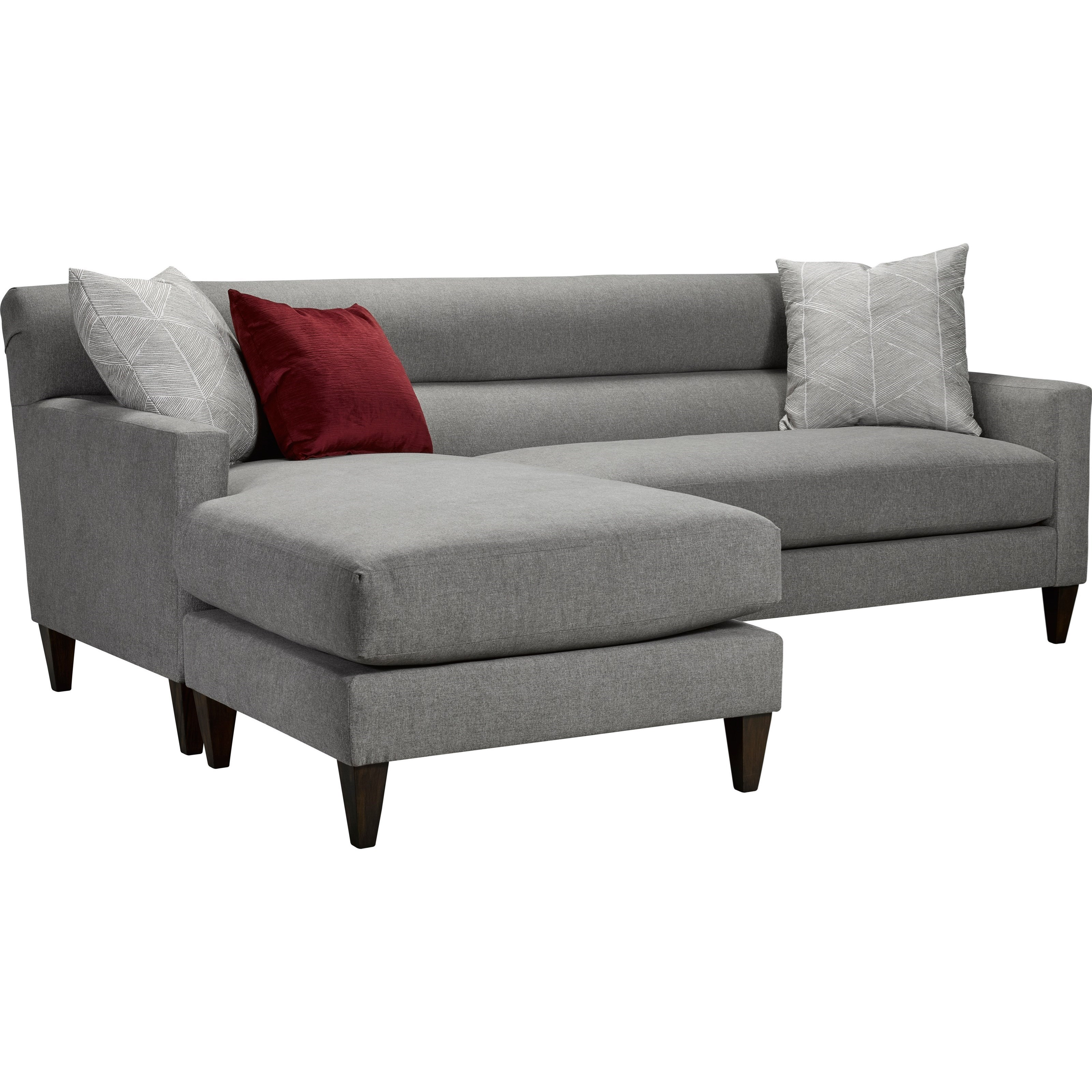 Broyhill Furniture Laclede Contemporary Convertible Sofa With Chaise