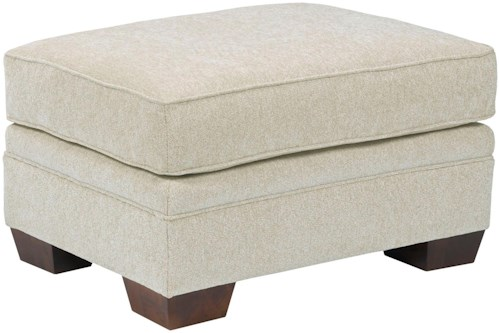 Broyhill Furniture Landon Transitional Ottoman with Welted Trim