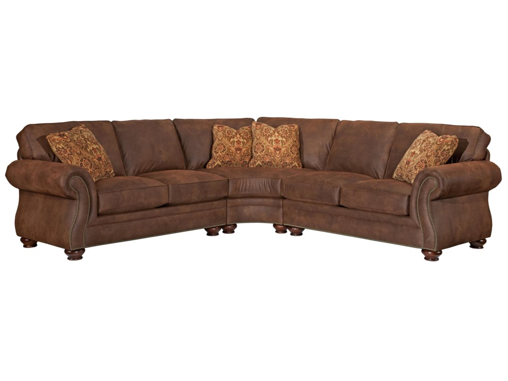 Wedge Sectional Sofa Byron Sectional Sofa Curved Corner