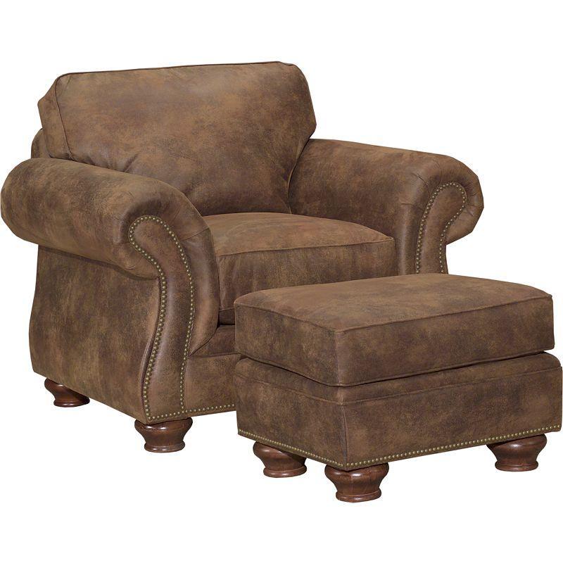 Broyhill Furniture Laramie Chair And Ottoman Set W/ Nail Head Trim   Becker  Furniture World   Chair U0026 Ottoman Sets