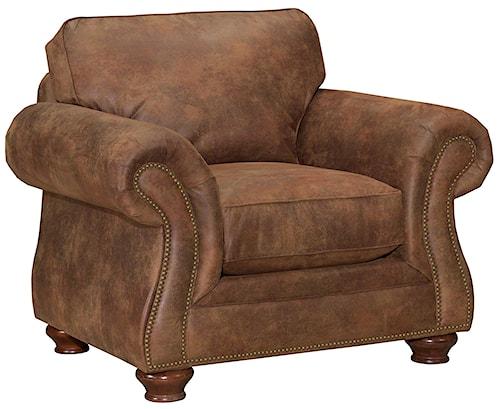 Broyhill Furniture Laramie Chair w/ Nail Head Trim