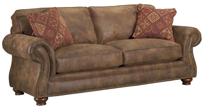 Broyhill Furniture Laramie Sofa w/ Nail Head Trim | Conlin\'s ...