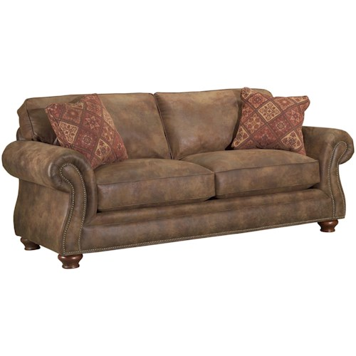 Broyhill Furniture Laramie Air Dream Sofa Sleeper With Nail Head Trim