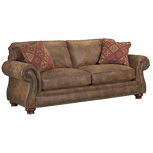 Broyhill Furniture Laramie Sofa Sleeper With Nail Head Trim
