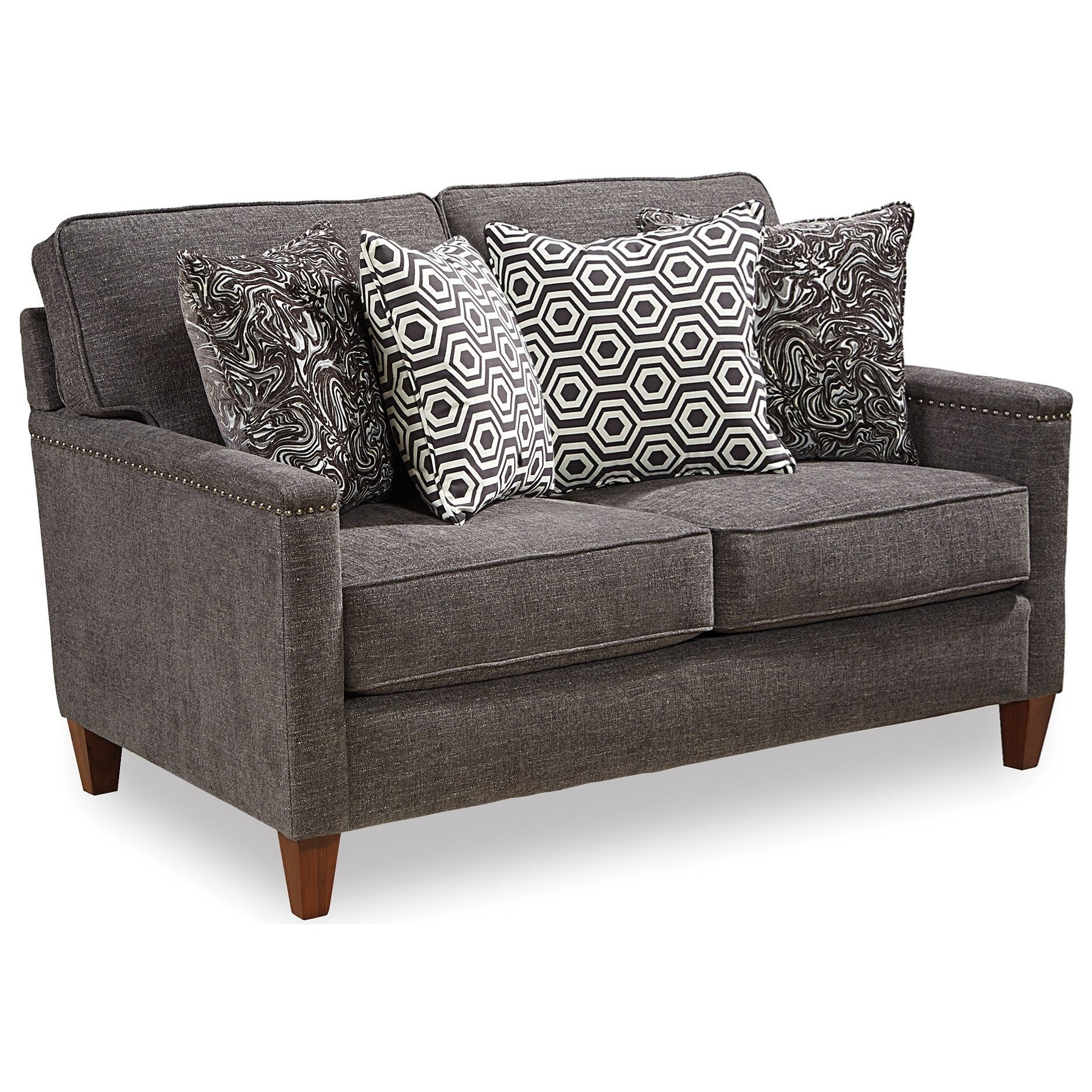 Lawson Contemporary Loveseat With Track Arms And Nailhead Trim By Broyhill  Furniture