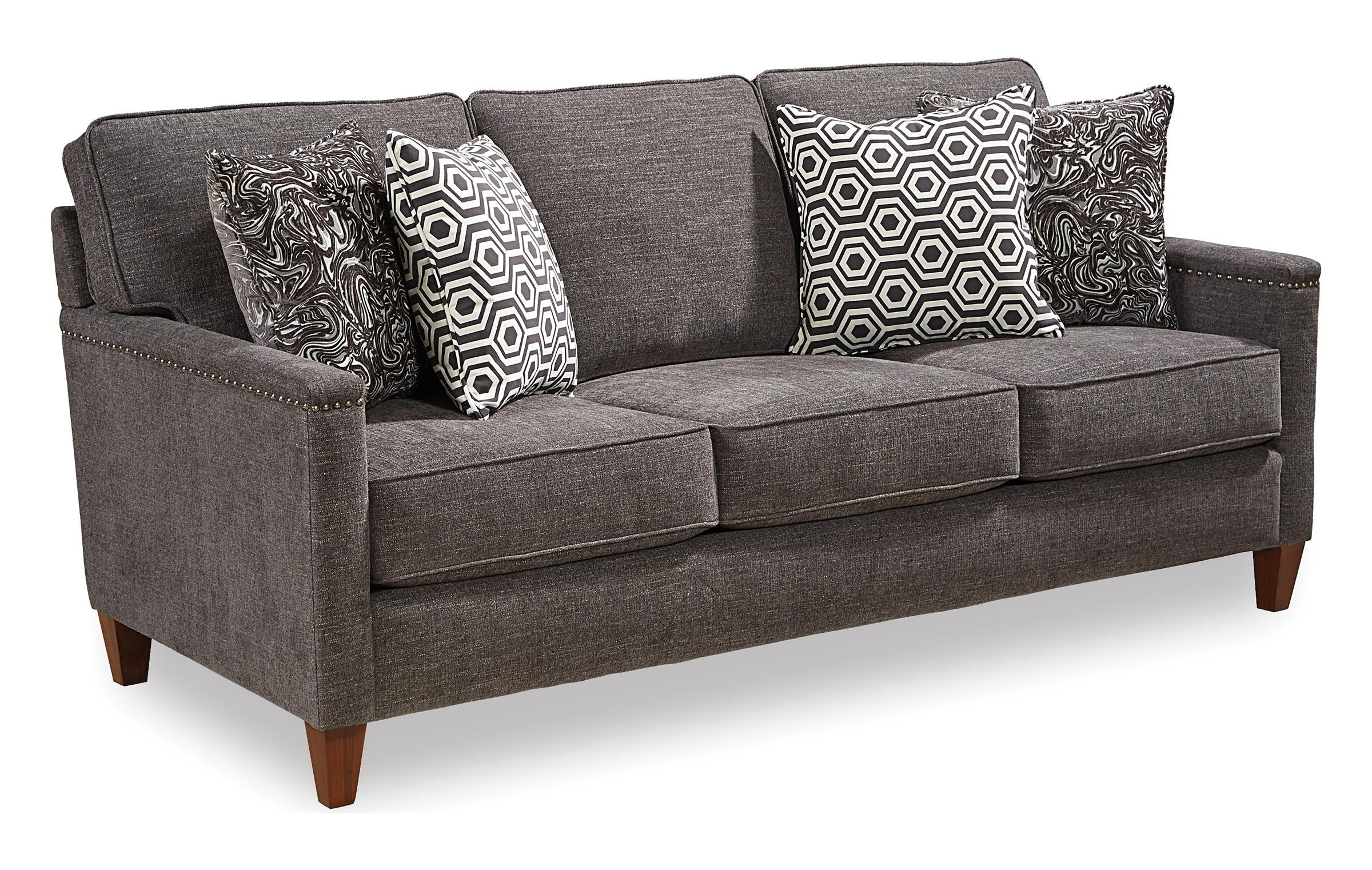 Lawson 0167135 Contemporary Sofa With Track Arms And Nailhead Trim By  Broyhill Furniture