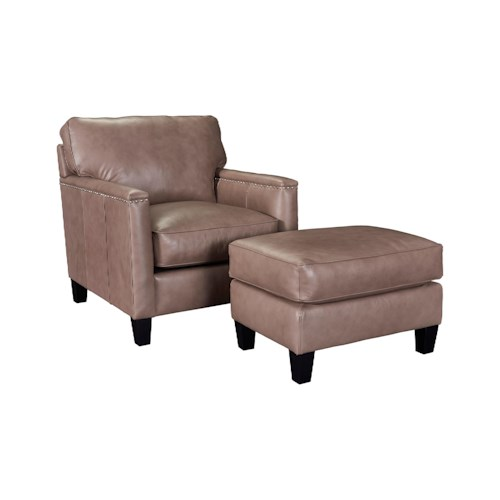 Broyhill Furniture Lawson Contemporary Chair and Ottoman Set