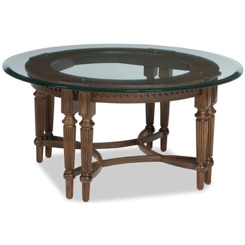 Broyhill Furniture Lyla Round Cocktail Table with Glass Top