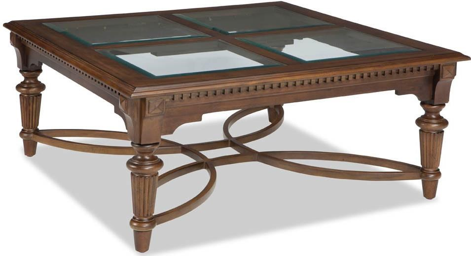 Broyhill Furniture Lyla Square Cocktail Table with Beveled ...