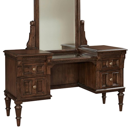 Broyhill Furniture Lyla 4-Drawer Vanity with Stone Top