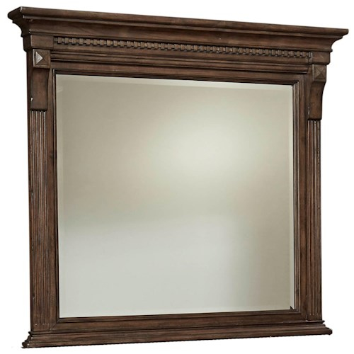 Broyhill Furniture Lyla Landscape Dresser Mirror with Fluted Pilasters