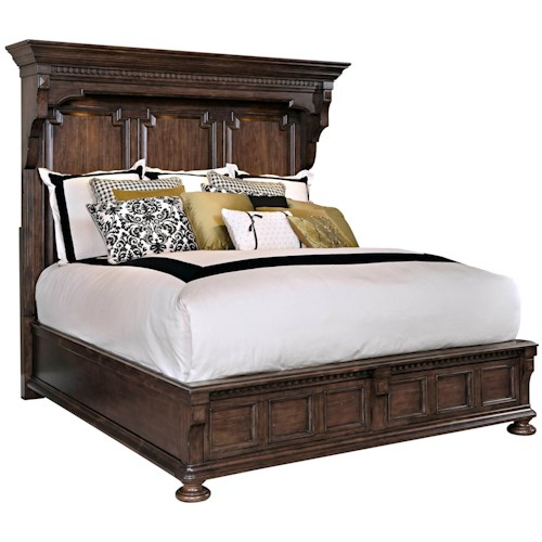 Broyhill Furniture Lyla Queen Mansion Bed with Lighting