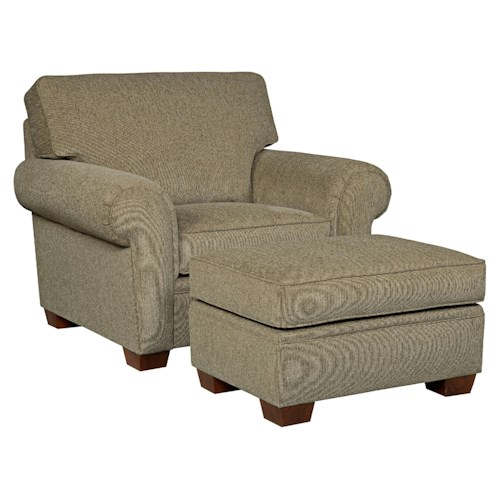 Broyhill Furniture Miller Casual Chair and Ottoman Set