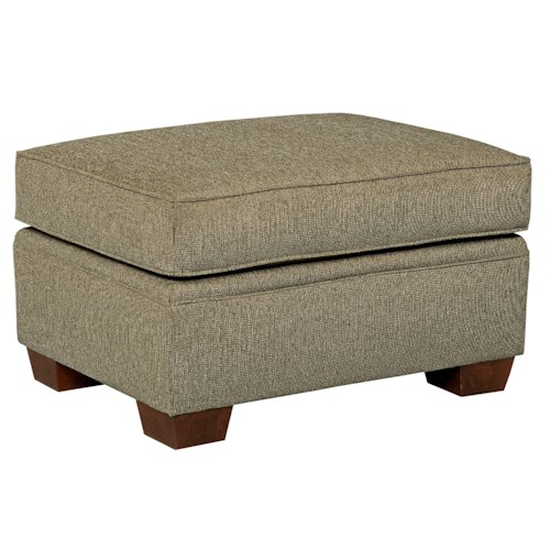 Broyhill Furniture Miller Casual Ottoman with Tapered Wood Feet
