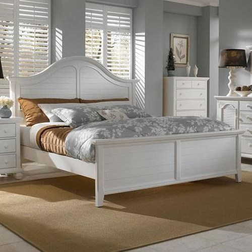 Broyhill Furniture Mirren Harbor Queen Arched Panel Headboard and Footboard Bed