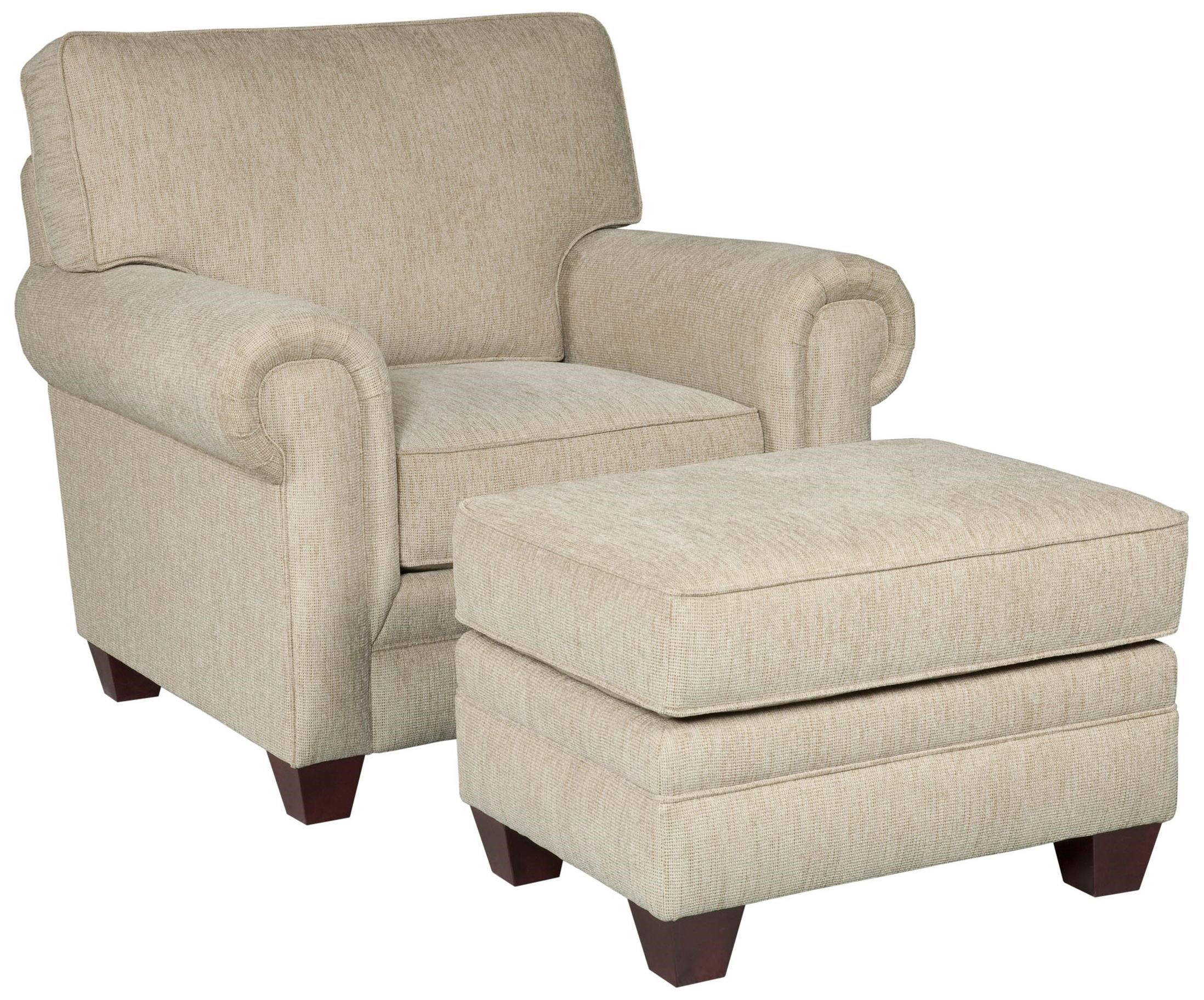 Broyhill Furniture Monica Transitional Upholstered Chair And Rectangular  Ottoman