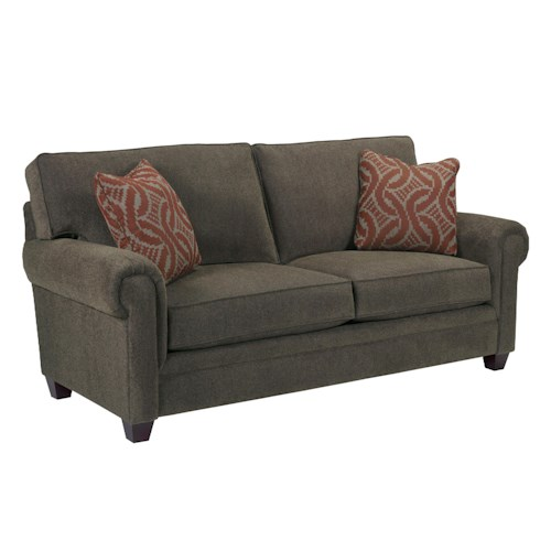 Broyhill Furniture Monica Transitional Loveseat with Rolled Arms