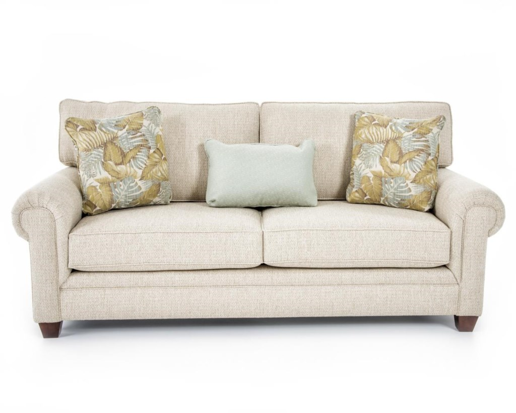 Broyhill Furniture Monica 3678 3 Sofa Transitional Sofa With  ~ What Is A Transitional Sofa