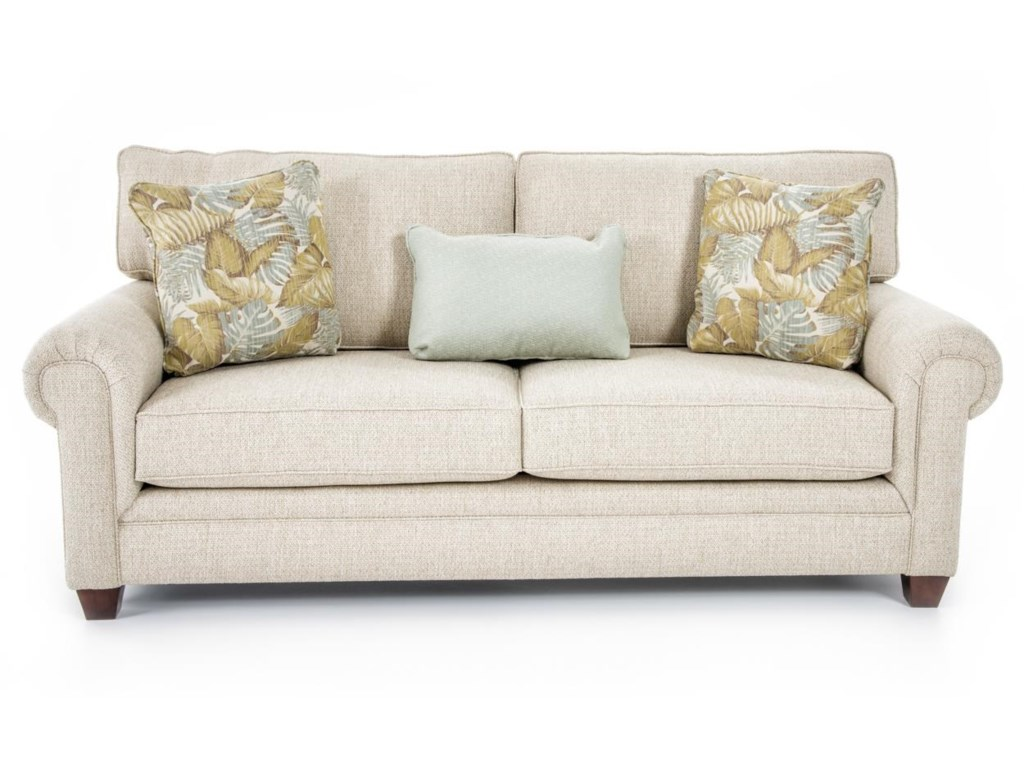 Broyhill Furniture Monica 3678-3 Sofa Transitional Sofa with Rolled ...