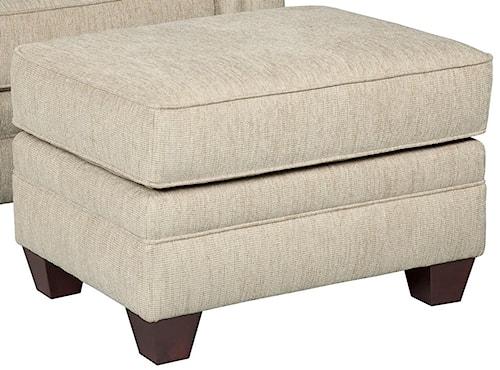 Broyhill Furniture Monica Rectangular Ottoman with Exposed Wood Feet