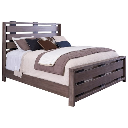 Broyhill Furniture Moreland Ave King Bed with Slatted Headboard and Footboard
