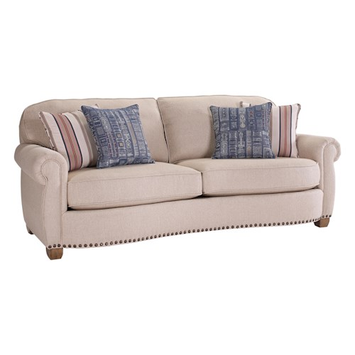 Broyhill Furniture New Vintage Traditional Sofa with Nailhead Trim
