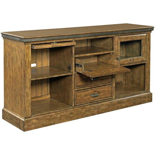 Broyhill Furniture New Vintage Barrister Console with Drop Front Drawer