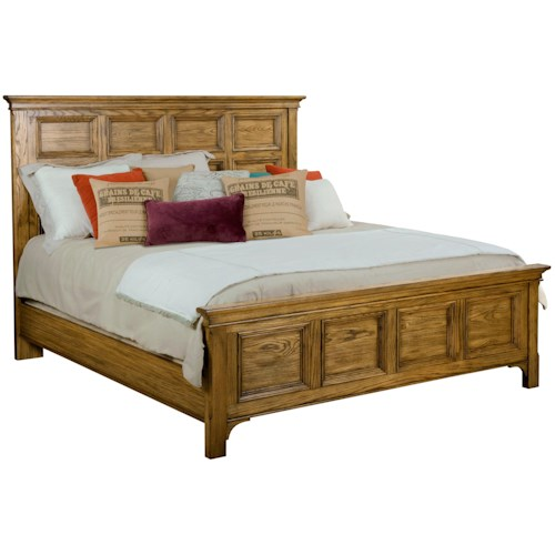 Broyhill Furniture New Vintage Queen Panel Bed with Frame Moldings