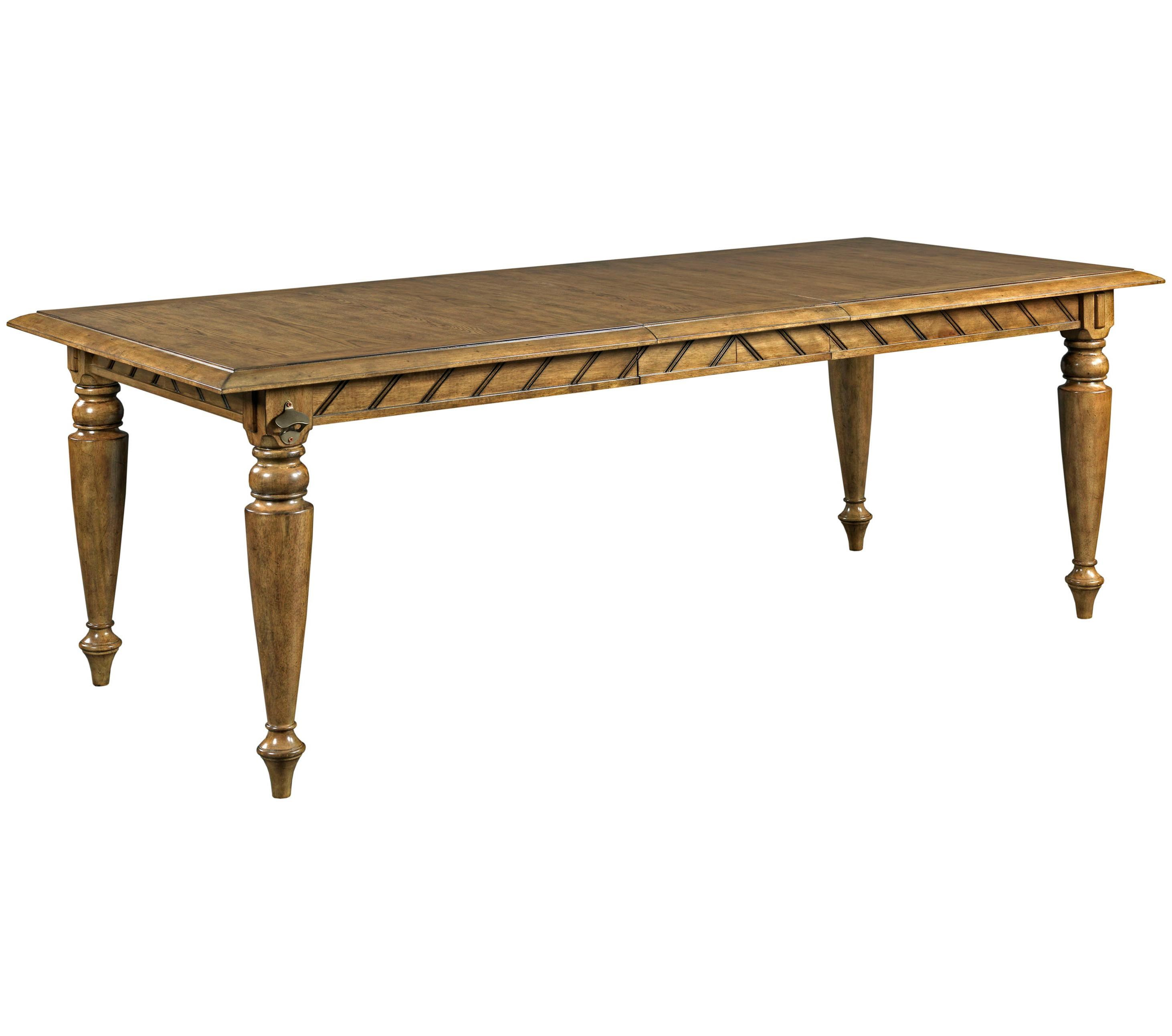 Broyhill Furniture New Vintage Rectangular Chevron Dining Table With Bottle  Opener   Conlinu0027s Furniture   Dining Tables