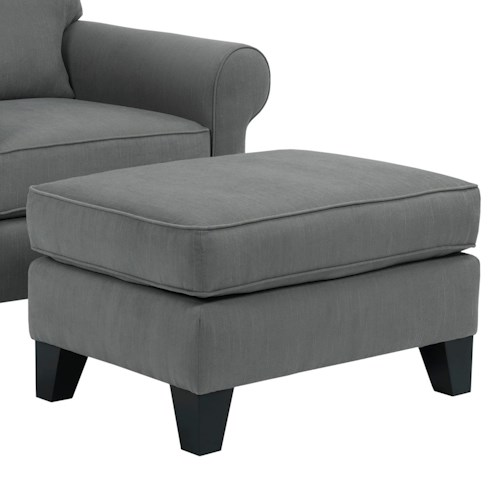 Broyhill Furniture Noda Transitional Chair Ottoman with Tapered Wood Feet